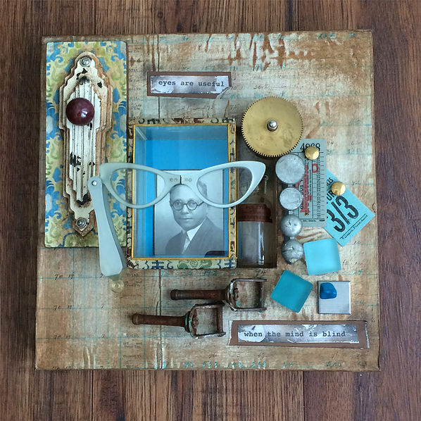 Assemblage art by Denise Cerro