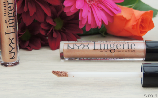 nyx lid lingerie eye tint paupieres revue avis test swatch new romance sweet cloud