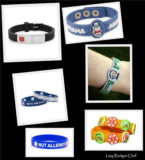 Lazy Budget Chef: 18 Allergy Medic Alert Bracelets You'll