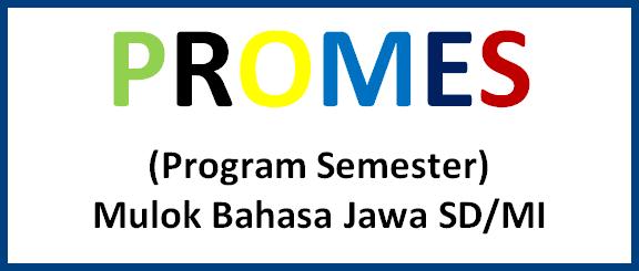 PROMES (Program Semester) Mulok Bahasa Jawa SD/MI