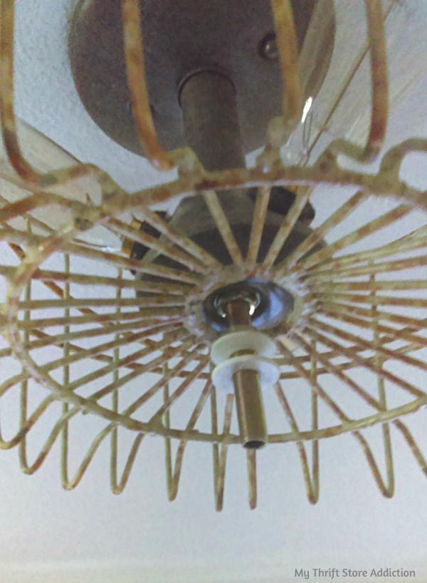 DIY farmhouse light fixture update