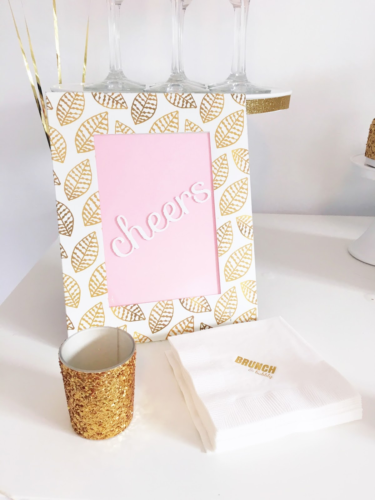 White And Gold Bedroom Chair: White And Gold Bridal Shower