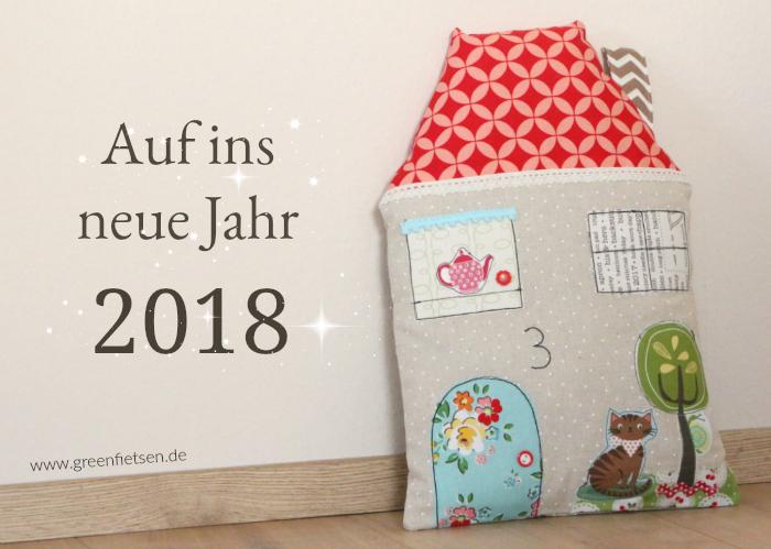 Hauskissen - Auf ins neue Jahr 2018