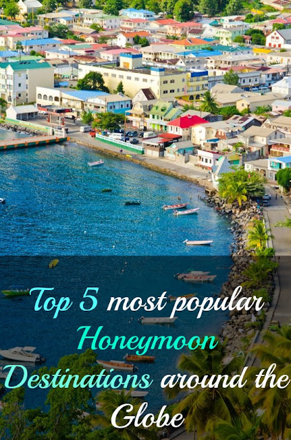 Top 5 most popular Honeymoon Destinations around the Globe