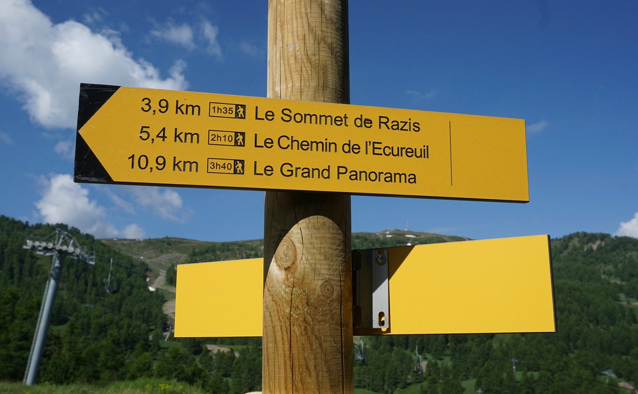 Hiking trails in Risoul