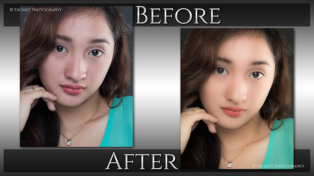 Female Headshot Portrait Retouching - Before & After, © Exodist Photography, All Rights Reserved