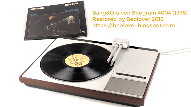 turntable playing a Ultrasonically cleaned vinyl record