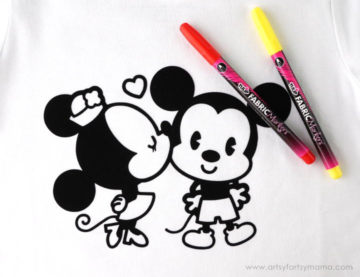 Disney Cuties Coloring Shirt at artsyfartsymama.com