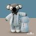 Koala de Pijama Amigurumi