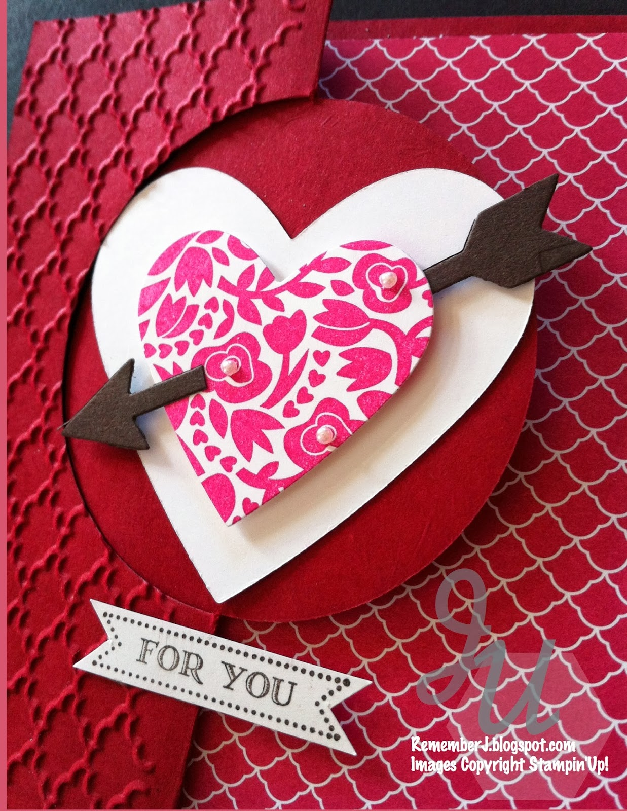 stamp a blessing stampin'up valentines