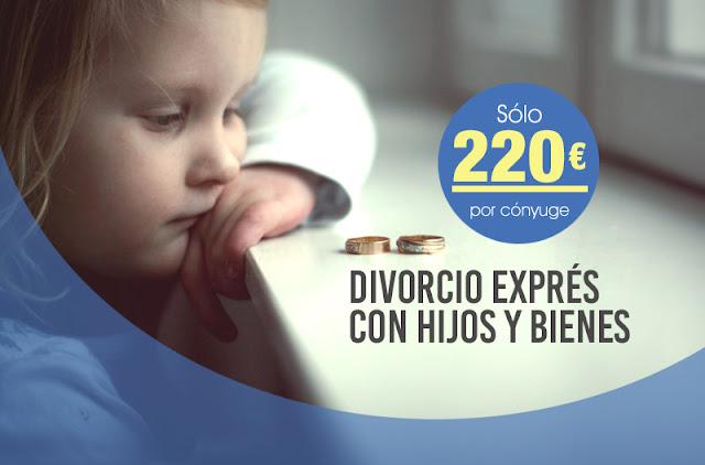 Divorcio exprés con hijos y bienes desde 220 euros