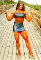 Muscular Womens Dressed: Elsje Bollen.