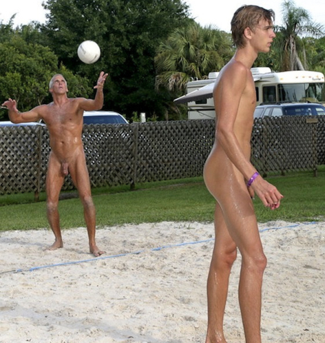 nude boys beach volleyball