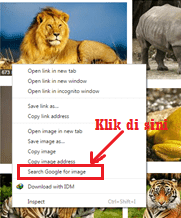 Cara mencari image-photo-gambar yang mirip atau sama dengan url pada google chrome