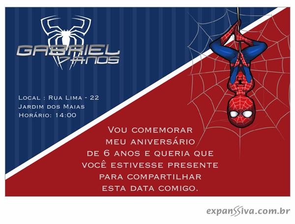 convites aniversario homem aranha bebe 08 - Convites de Aniversário do Homem Aranha