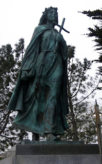 A statue of Santa Rosalia in Monterey, California