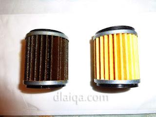 filter oli mesin lama dan baru