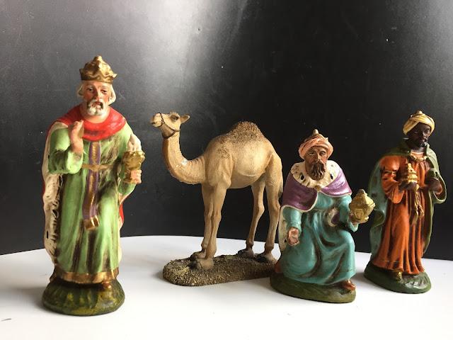 Die Heiligen Drei Könige mit Kamel
