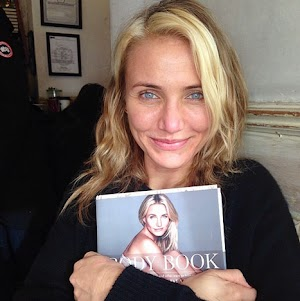 Cameron Diaz without makeup demonstrated new book