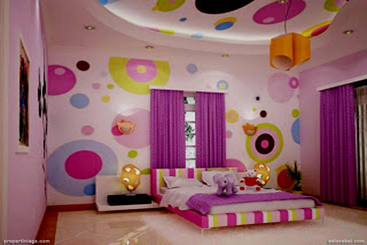 Desain Kamar Tidur Anak Perempuan Warna Hijau