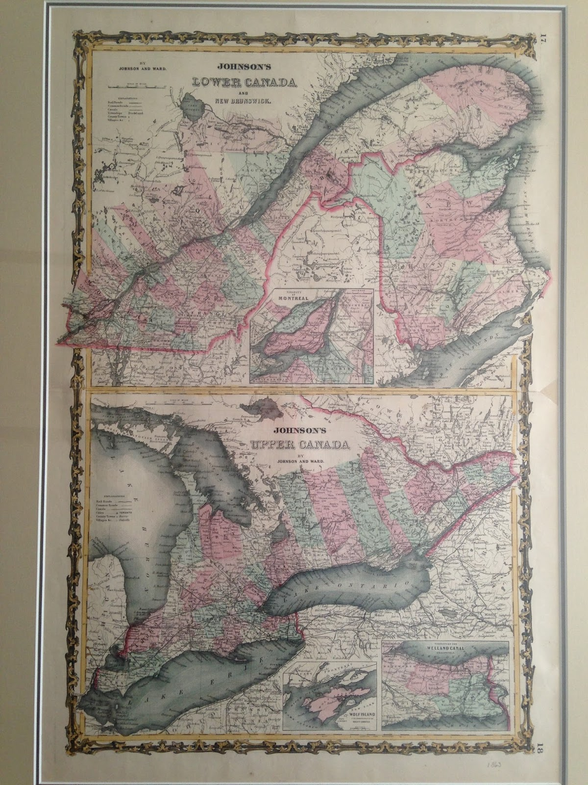 these two maps of upper and lower canada parts of modern ontario and quebec respectively as well as new brunswick and bits of the united states