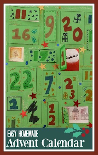 Making a simple homemade Advent calendar with children