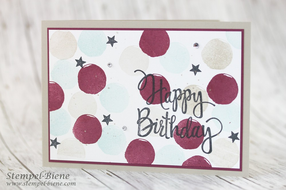 Stempel-Biene: Happy Birthday mit Stampin! Up! Stylized Birthday