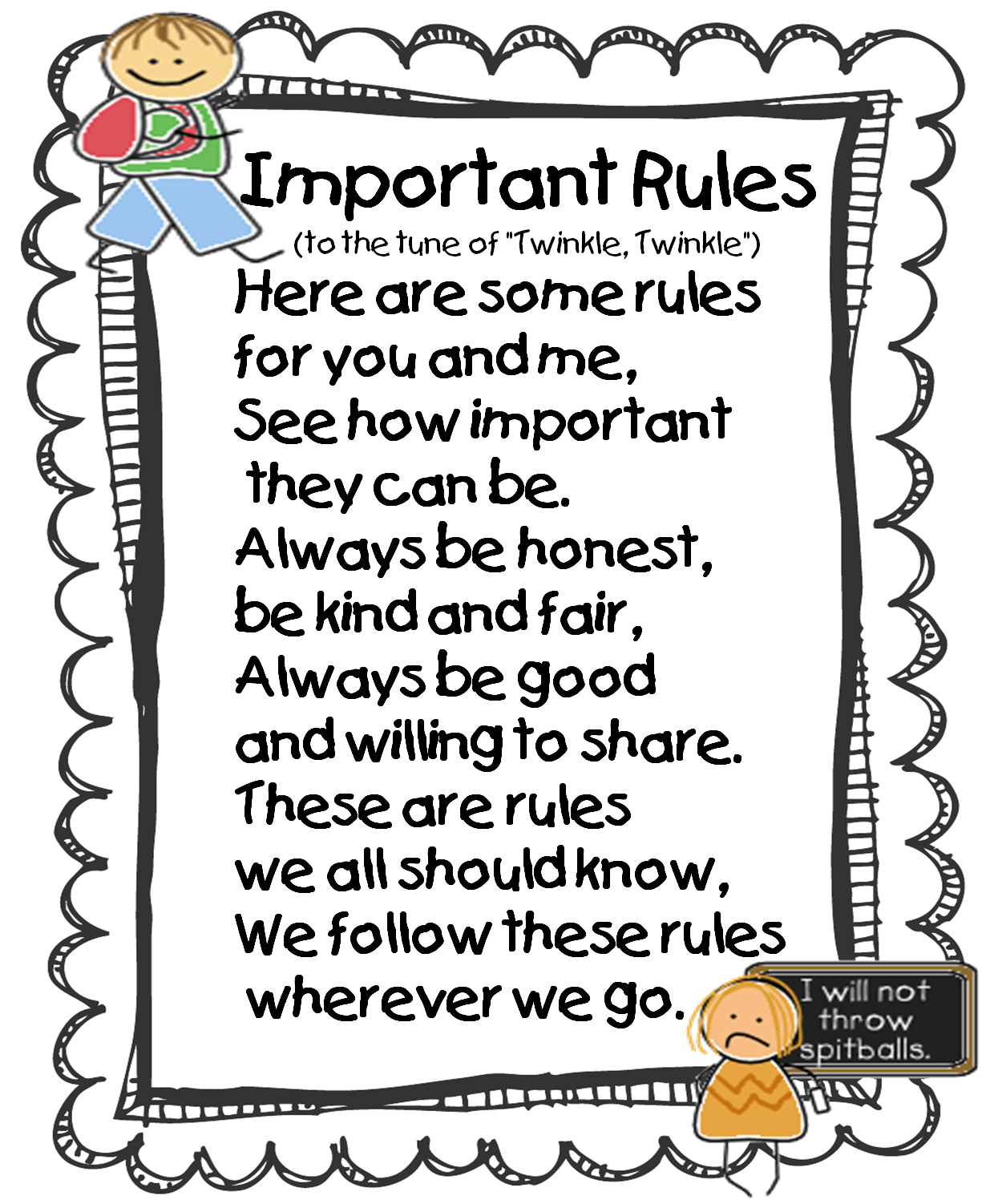 Rules Craft For Kids