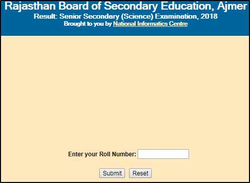 Rajasthan Board 10 th Result-RBSE 10th Result