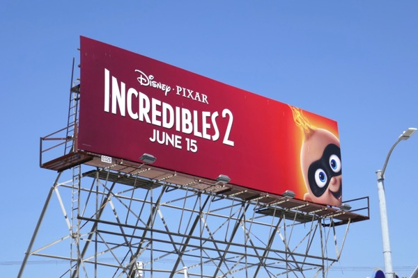 Incredibles 2 Jack-Jack billboard