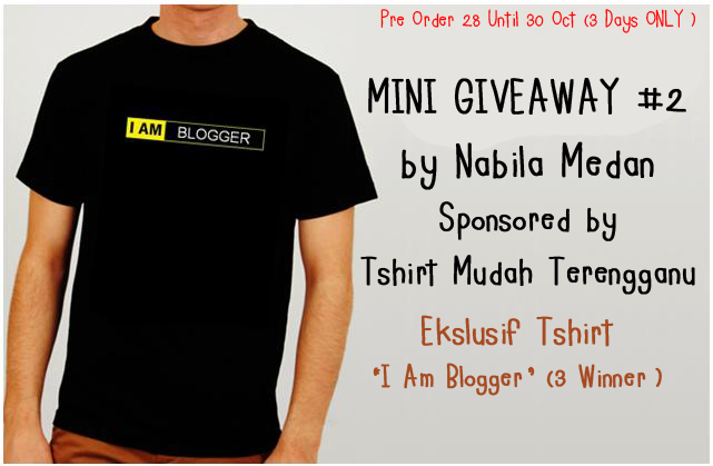 MINI GIVEAWAY #2 BY NABILA MEDAN