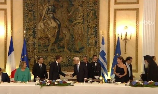 Π. Παυλόπουλος: Επίσημο δείπνο προς τιμήν του Γάλλου Προέδρου Εμ. Μακρόν  (βίντεο & φώτο)