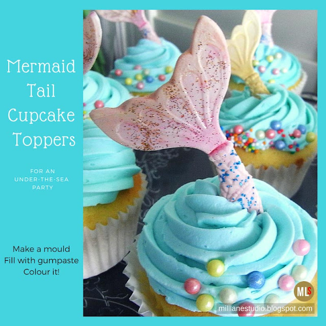 Mermaid's Tail cupcake toppers