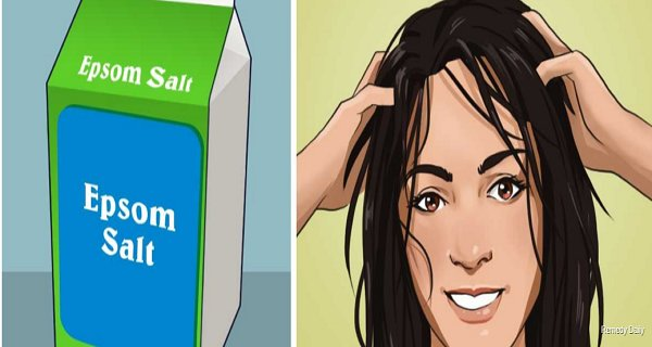 She Rubs A Little Bit Epsom Salt Into Her Hair. The Effects After 20 Minutes – Unbelievable!
