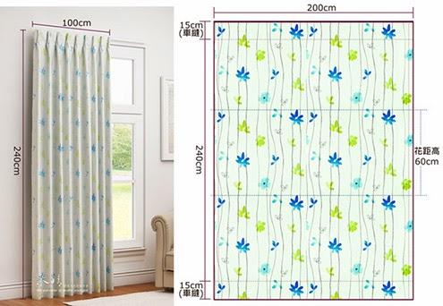 布窗簾價格計算|第一步虛擬攤平窗簾,反推需要布量