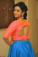 Nithya Shetty in Orange Choli at Kalamandir Foundation 7th anniversary Celebrations ~  Actress Galleries 057.JPG