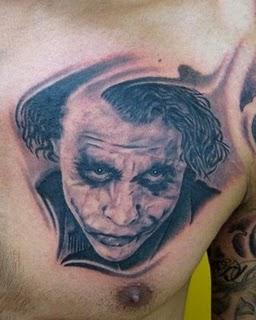 Joker Chest Tattoo : joker, chest, tattoo, Heritage, Tattoo:, Batman, Movie, Joker, Portrait, Tattoo, Chest