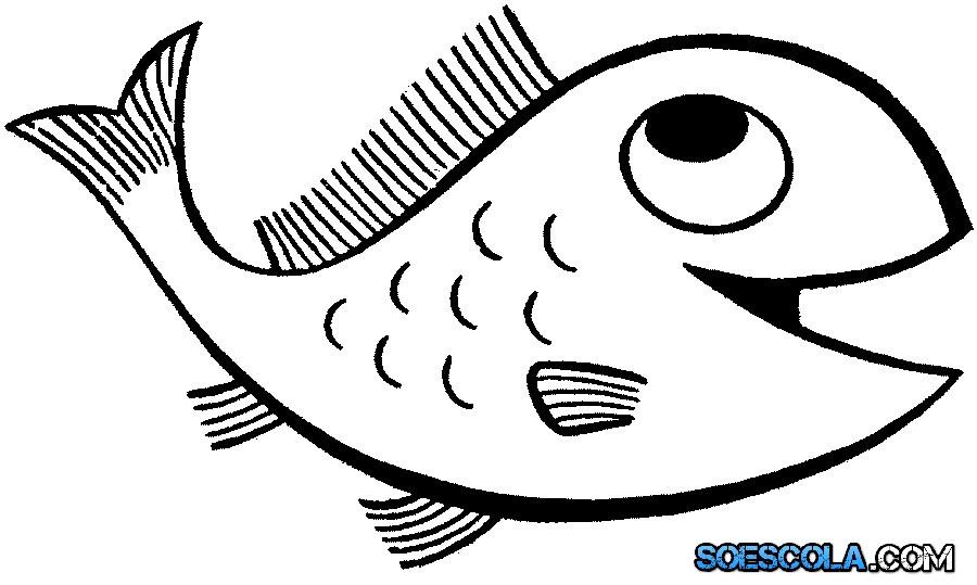 8 Desenhos De Peixes Para Colorir So Escola