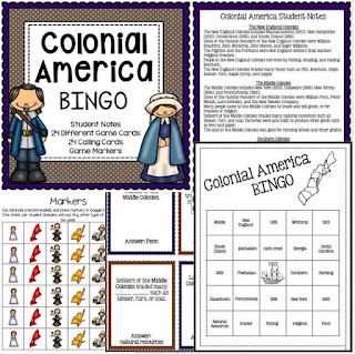 https://www.teacherspayteachers.com/Product/Colonies-New-England-Middle-Southern-BINGO-1626136