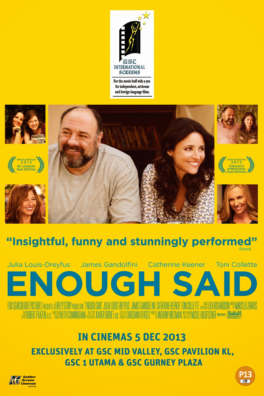 Enough Said Movie Poster Large Malaysia
