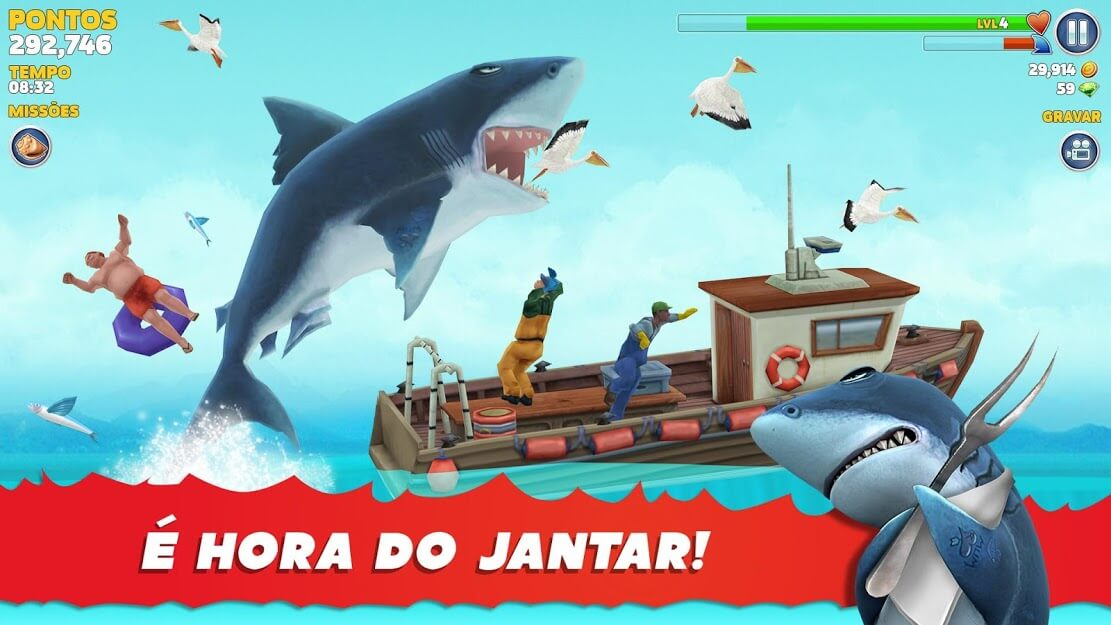 Hungry Shark Evolution Dinheiro Infinito / Mod Menu 8.3.0