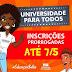 Ponto Novo: Programa Universidade Para Todos tem inscrições prorrogadas e seguem até esta terça (07)