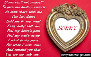 apology messages to a lover