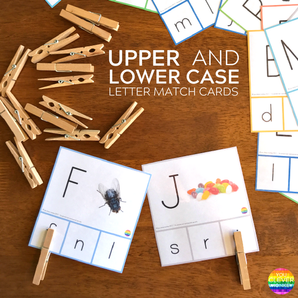 Printable Upper and Lower Case Match Cards | you clever monkey