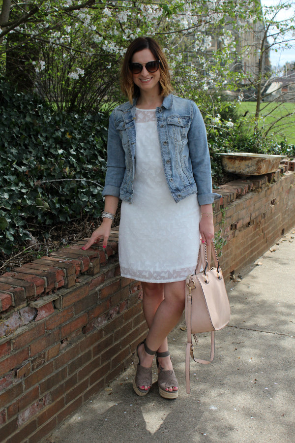 little white dress, cuddy studios, spring style, how to style a white dress