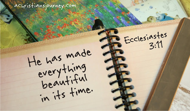 made everything beautiful in its time. Ecclesiastes 3:11