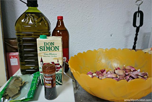 Ingredientes de la Receta del Choto al Ajillo