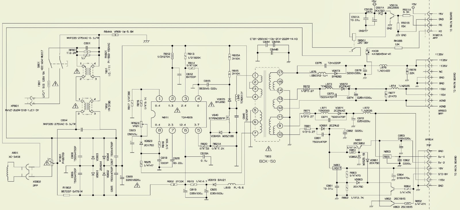 AT3208S - APEX TV - SMPS SCHEMATIC (Power Supply Circuit ...