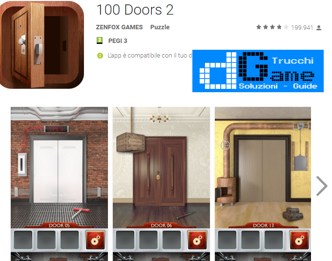 Soluzioni 100 Doors 2 Beta livello 51-52-53-54-55-56-57-58-59-60 | Trucchi e Walkthrough level
