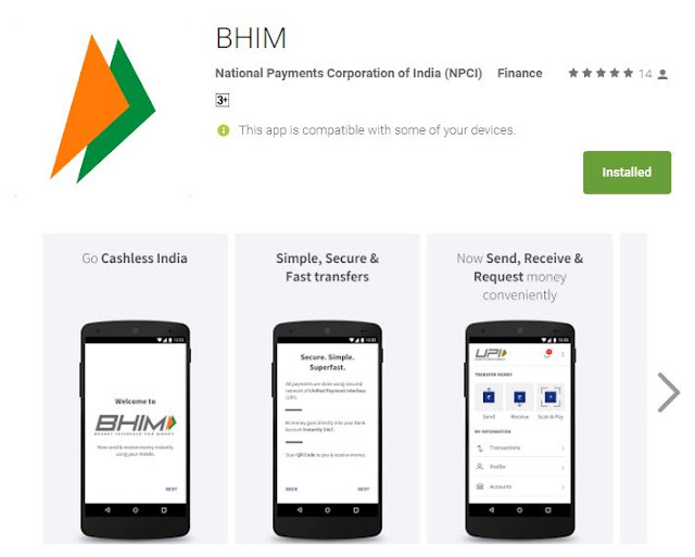 How to download use BHIM app in andriod mobile phone